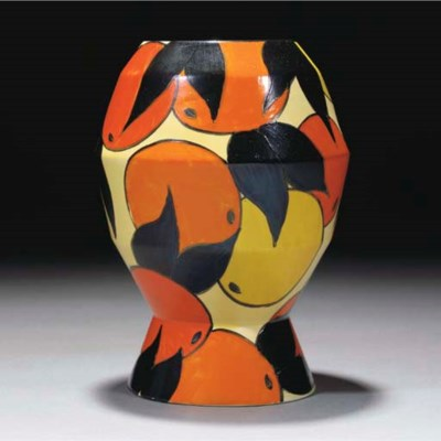 An Oranges and Lemons Vase Sha