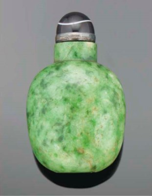 A Chinese mottled green jadeit