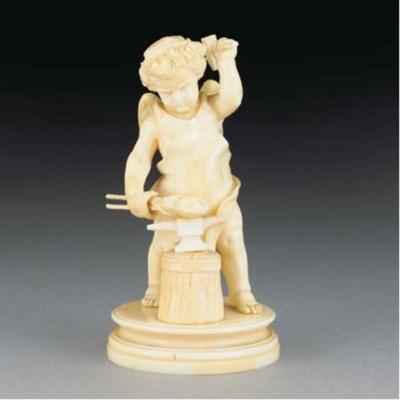 A carved ivory figure