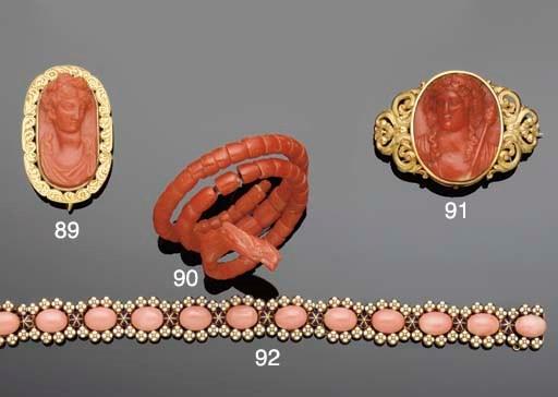 A 19th century coral bracelet