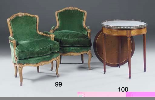 A PAIR OF FRENCH BEECHWOOD FRA
