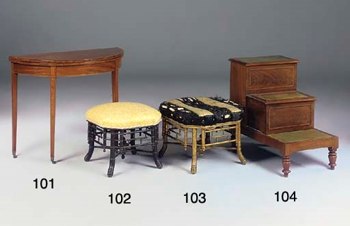 A GILTWOOD FAUX BAMBOO STOOL