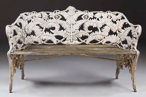 A Victorian cast iron 'Fern an