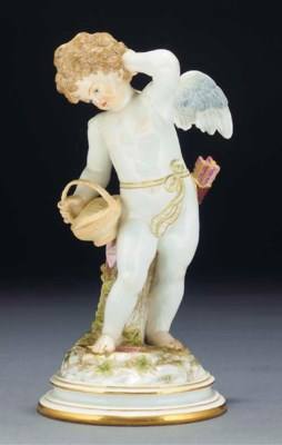 A Meissen figure of Cupid