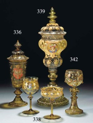 Four Continental enamelled and