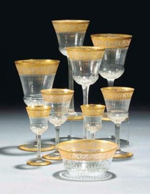 An extensive glass and gilt pa