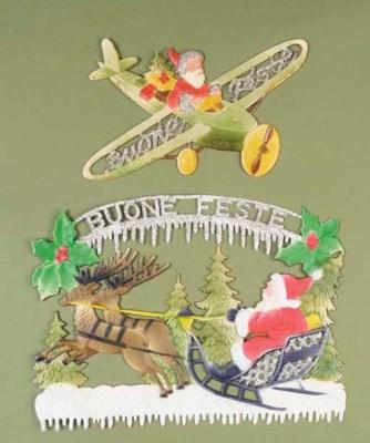 Pressed card Christmas decorat