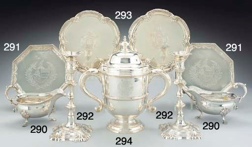 A GEORGE II SILVER CUP AND COV