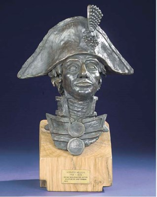 A 20TH CENTURY BUST OF NELSON