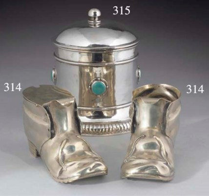 A Silver-Plated Biscuit Box