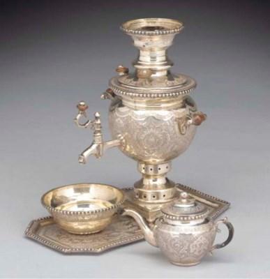 A Persian Silver Small Samovar