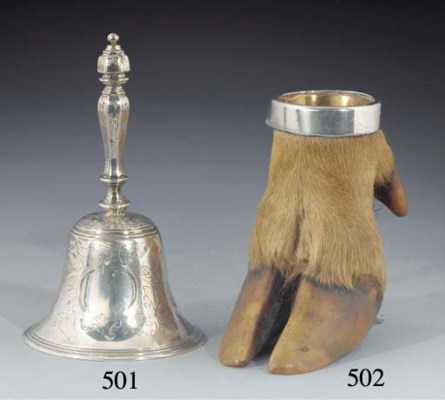 A Victorian Silver Table Bell