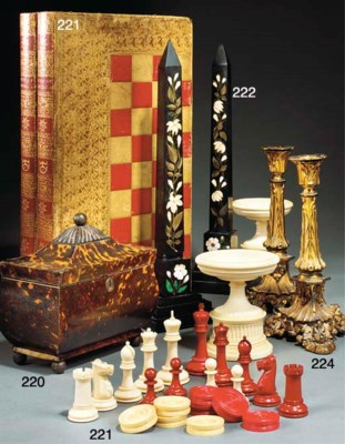 A STAUNTON PATTERN IVORY CHESS