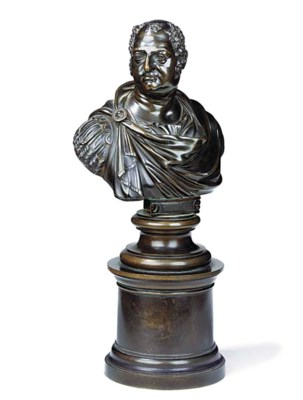 A BRONZE BUST OF THE DUKE OF Y