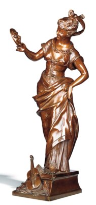 A FRENCH BRONZE MODEL OF A LAD
