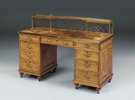 A VICTORIAN SATINWOOD AND GILT