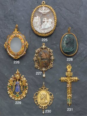 A 17th century jewelled gold a