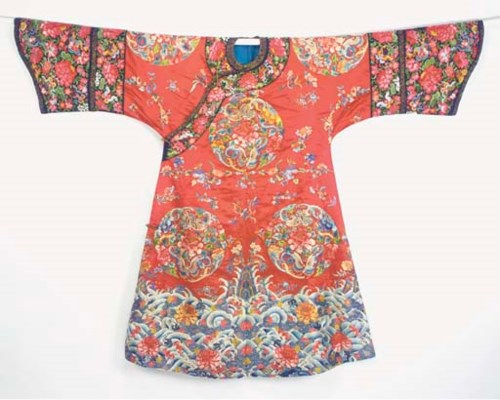 A MANCHU WEDDING ROBE OF RED S