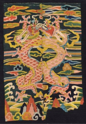 A JOINED PANEL OF SILK KESI