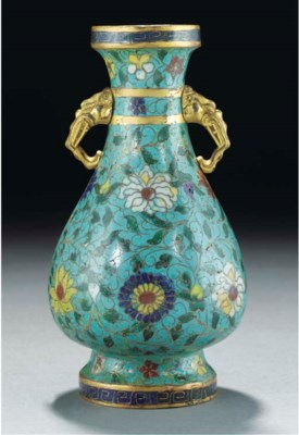 A cloisonne vase, late Ming dy