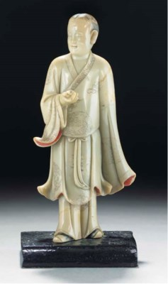 A soapstone model of a standin