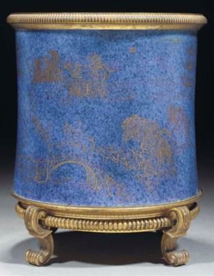 A gilt-bronze mounted powder-b