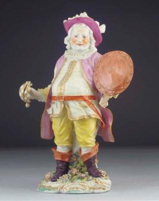 A Derby figure of 'Falstaff'