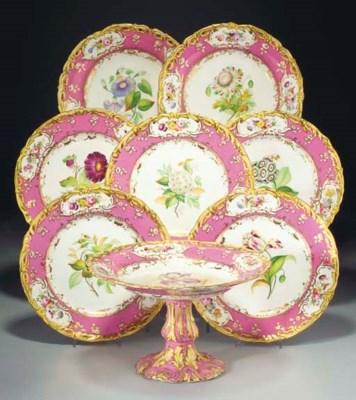 An English porcelain pink-grou