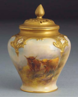 A Royal Worcester baluster vas