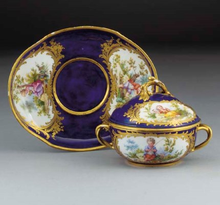 A Sevres (later decorated) ecu
