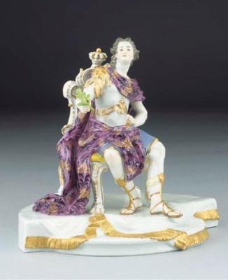 A Meissen figure of an Emperor