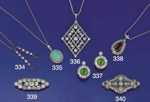 An Edwardian, sapphire, diamon