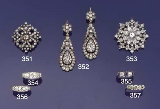 A pair of Victorian diamond ea