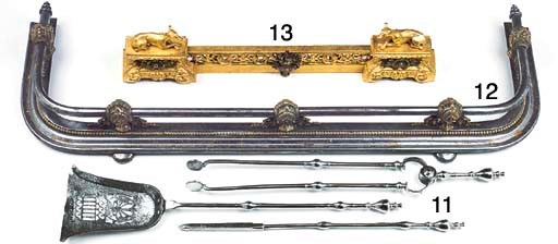 A French iron and bronze mount