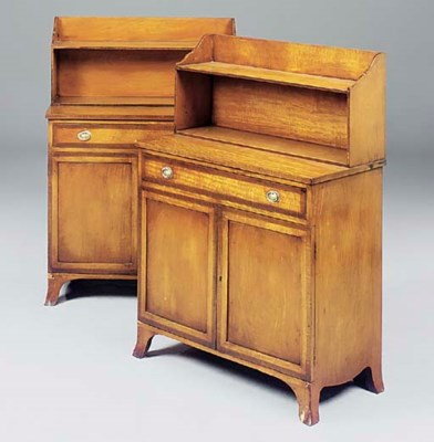 A PAIR OF MAHOGANY CHIFFONIERS