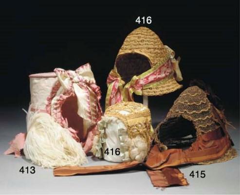4A lady's capote type bonnet c