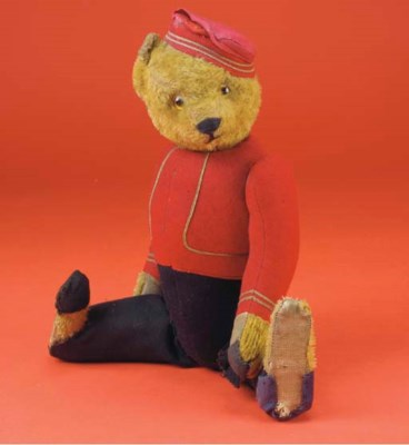 A Schuco yes/no bellhop teddy