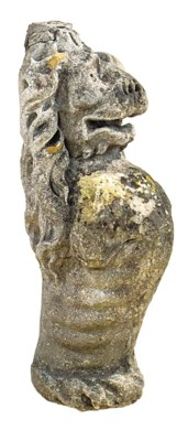 A sculpted limestone model of