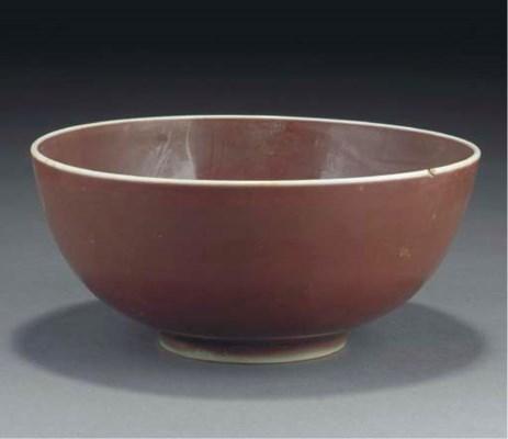 A Chinese sang-de-boeuf glazed