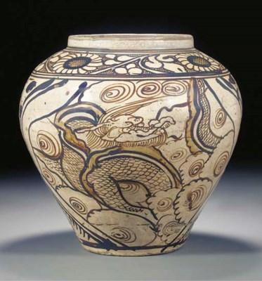 A Cizhou stoneware jar, Yuan/M
