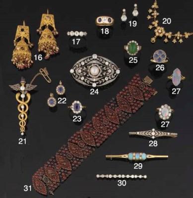 A group of opal and diamond je