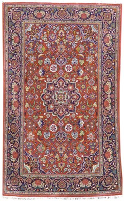 A pair of fine Kashan rugs
