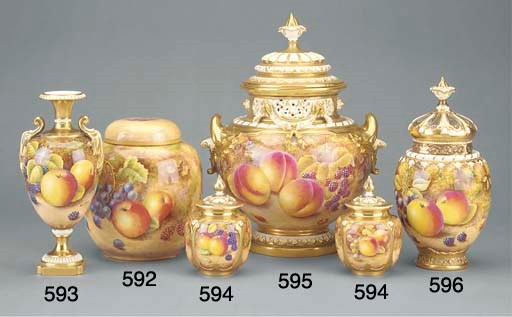 A Royal Worcester ginger-jar a