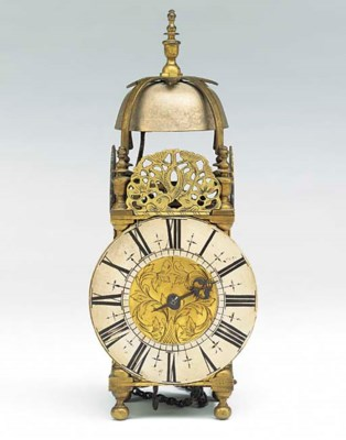 An English brass miniature lan