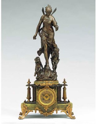 A French brass and spelter str