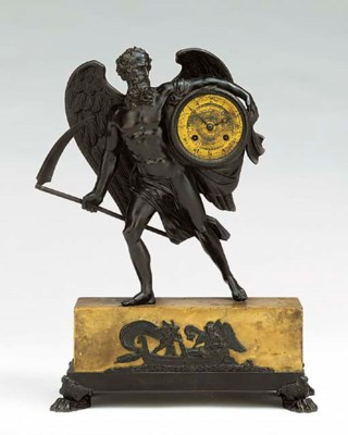 A Charles X bronze and Siena m