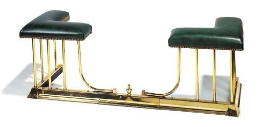 A brass club fender