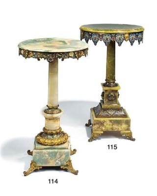 A French enamel gilt bronze an