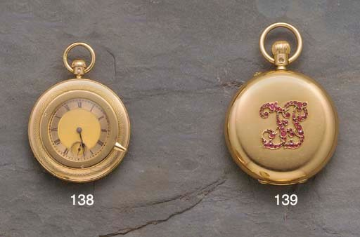 Dent: A rare 18ct gold keyless