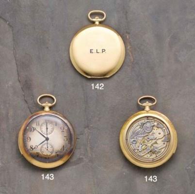 Cartier: An 18ct gold open fac